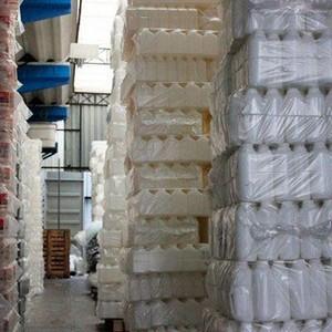 Frascos de plastico de laboratório